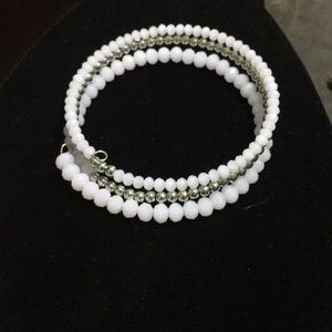 Jewelry - 💎3/$10 baby pink and silver coil bracelet